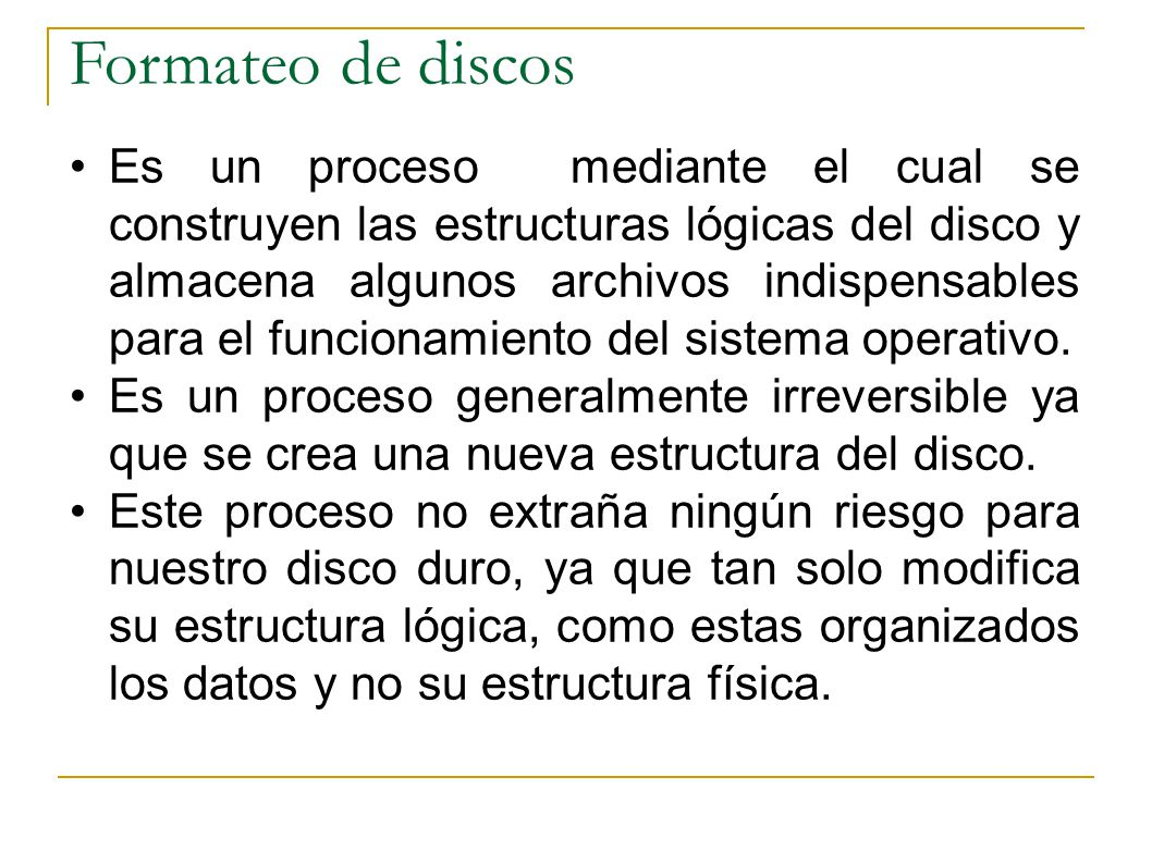 Formateo de discos