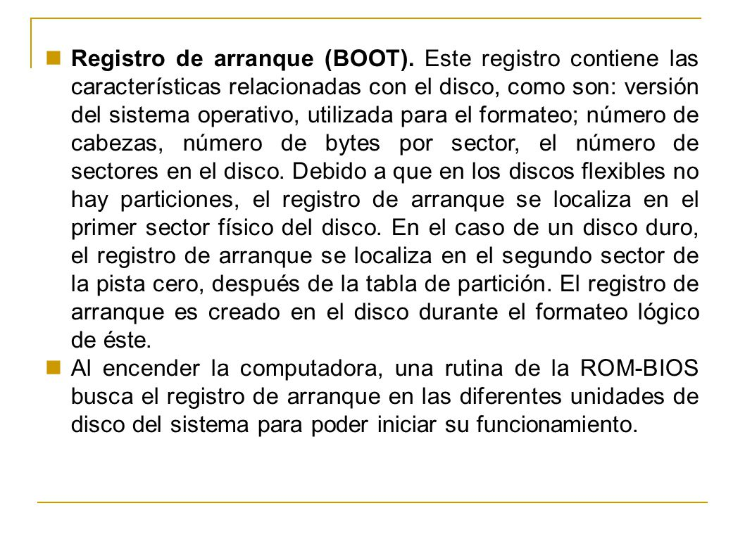 Registro de arranque (BOOT)