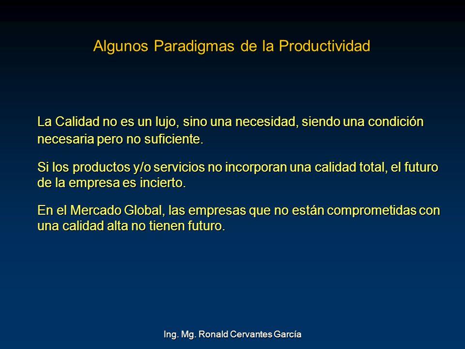 Algunos Paradigmas de la Productividad
