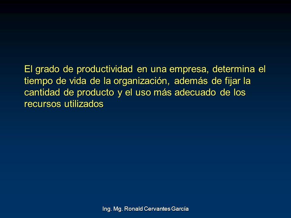 Ing. Mg. Ronald Cervantes García