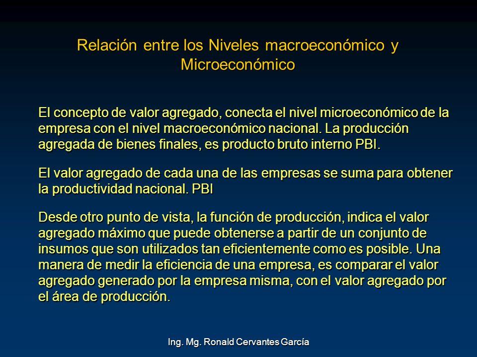 Relación entre los Niveles macroeconómico y Microeconómico