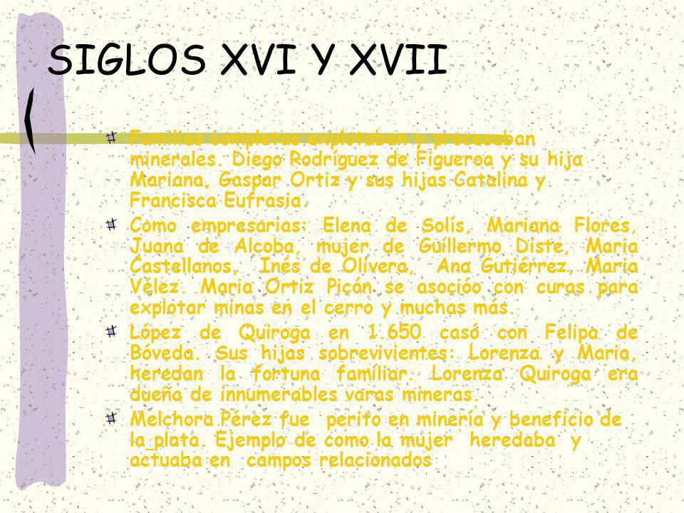 SIGLOS XVI Y XVII