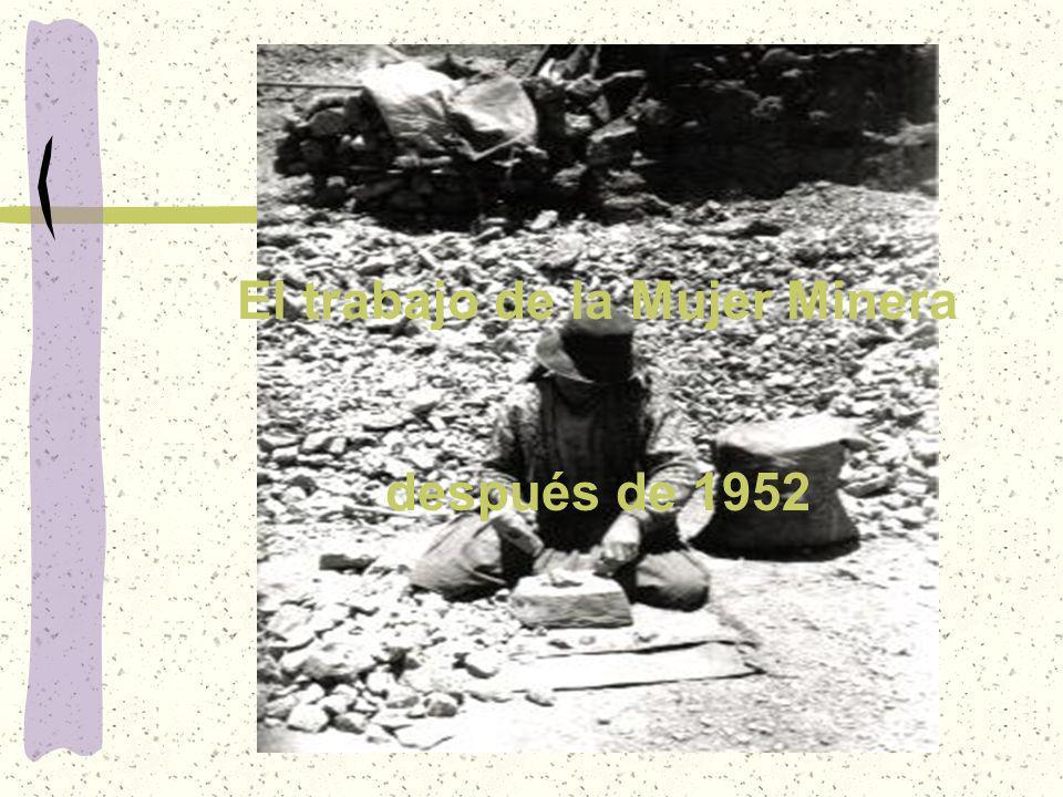 El trabajo de la Mujer Minera