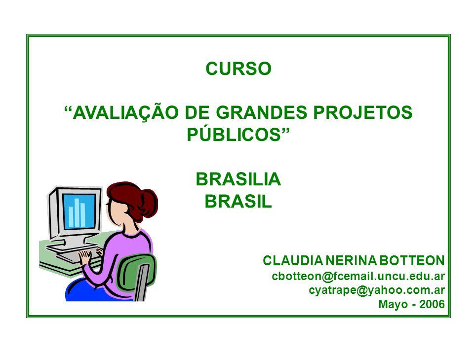 AVALIAÇÃO DE GRANDES PROJETOS PÚBLICOS
