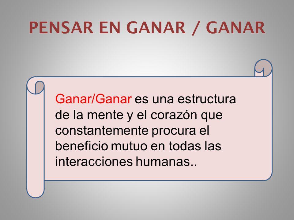 PENSAR EN GANAR / GANAR