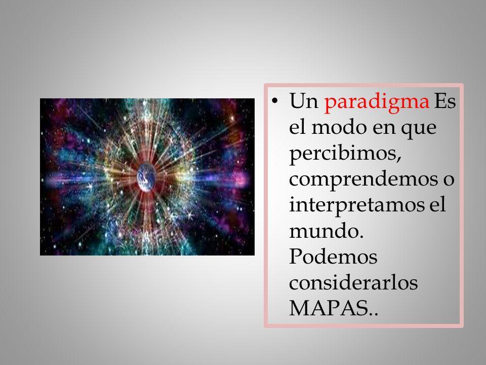 Un paradigma Es el modo en que percibimos, comprendemos o interpretamos el mundo.