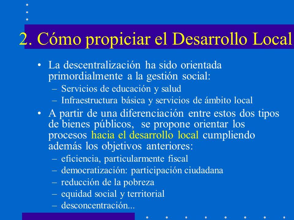 2. Cómo propiciar el Desarrollo Local