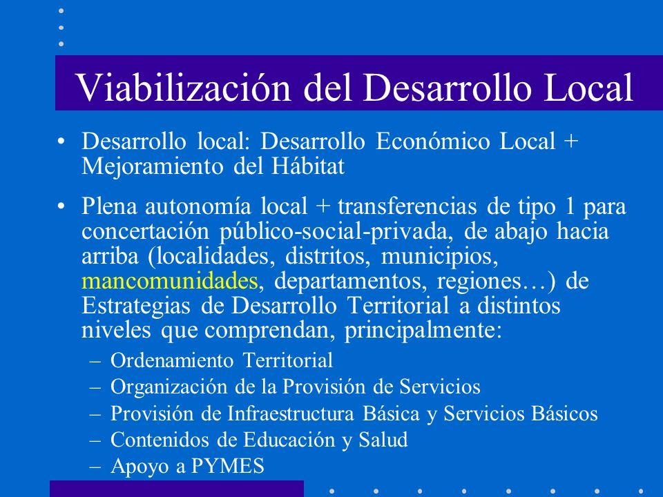 Viabilización del Desarrollo Local