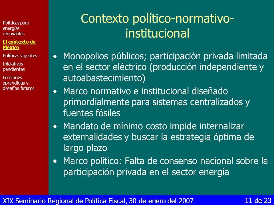 Contexto político-normativo-institucional