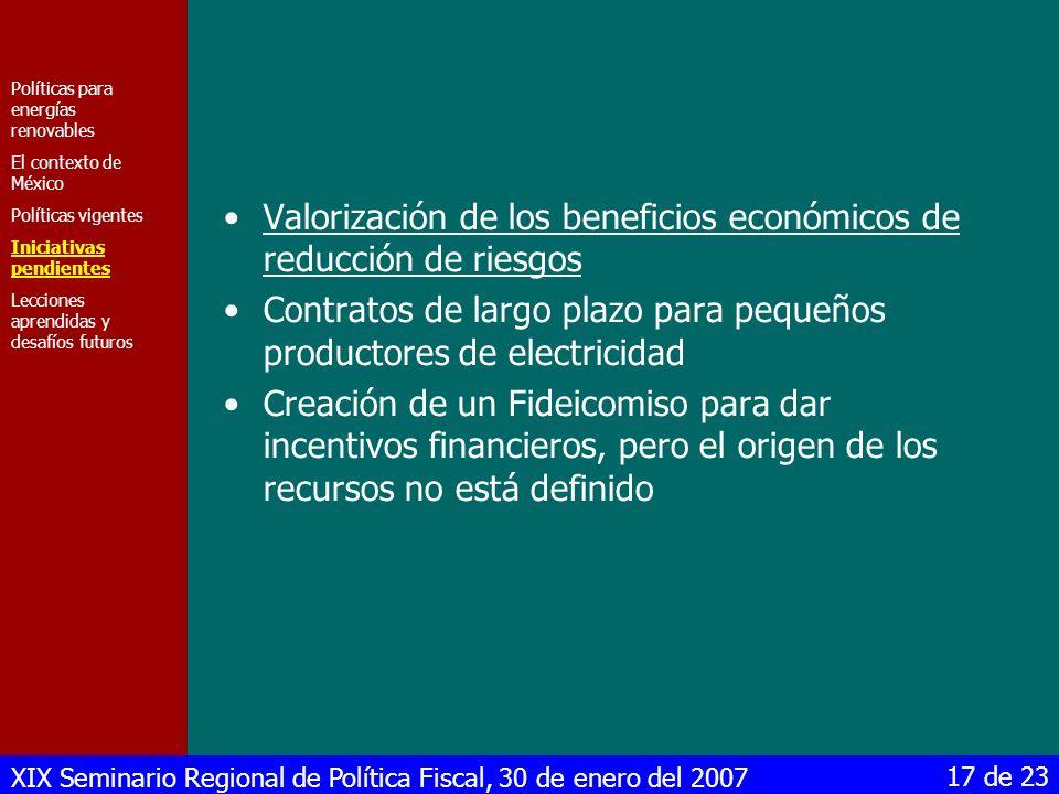 Valorización de los beneficios económicos de reducción de riesgos