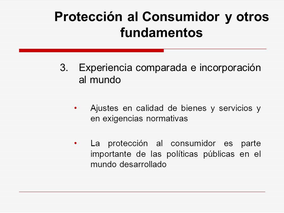 Protección al Consumidor y otros fundamentos