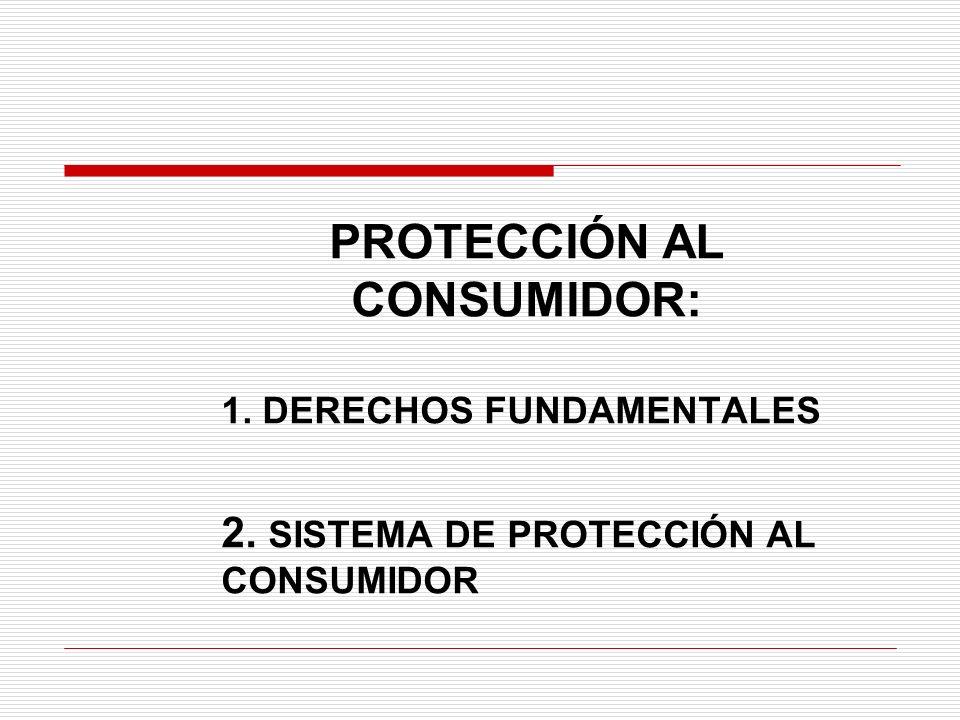 PROTECCIÓN AL CONSUMIDOR: