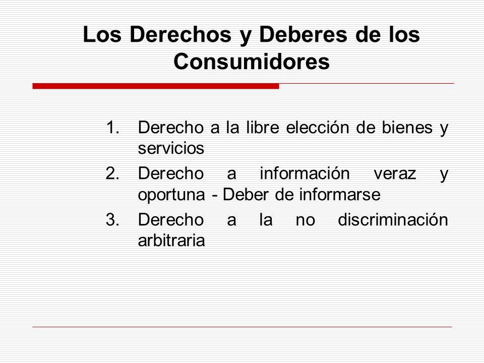 Los Derechos y Deberes de los Consumidores