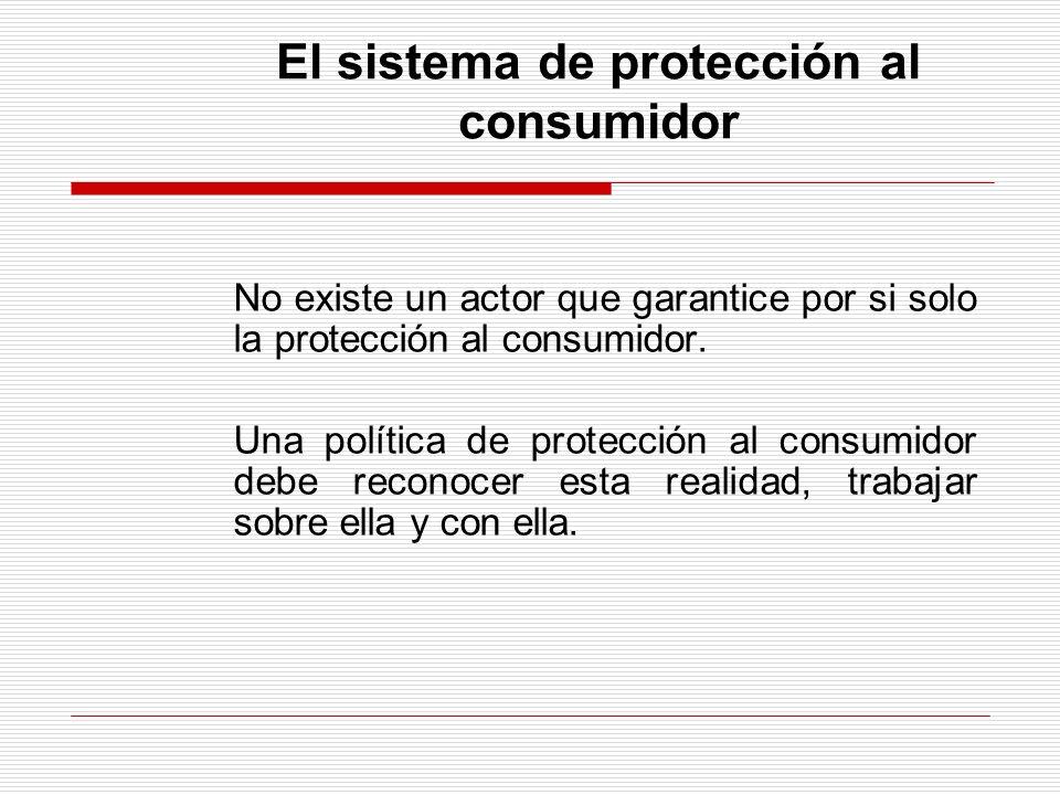 El sistema de protección al consumidor