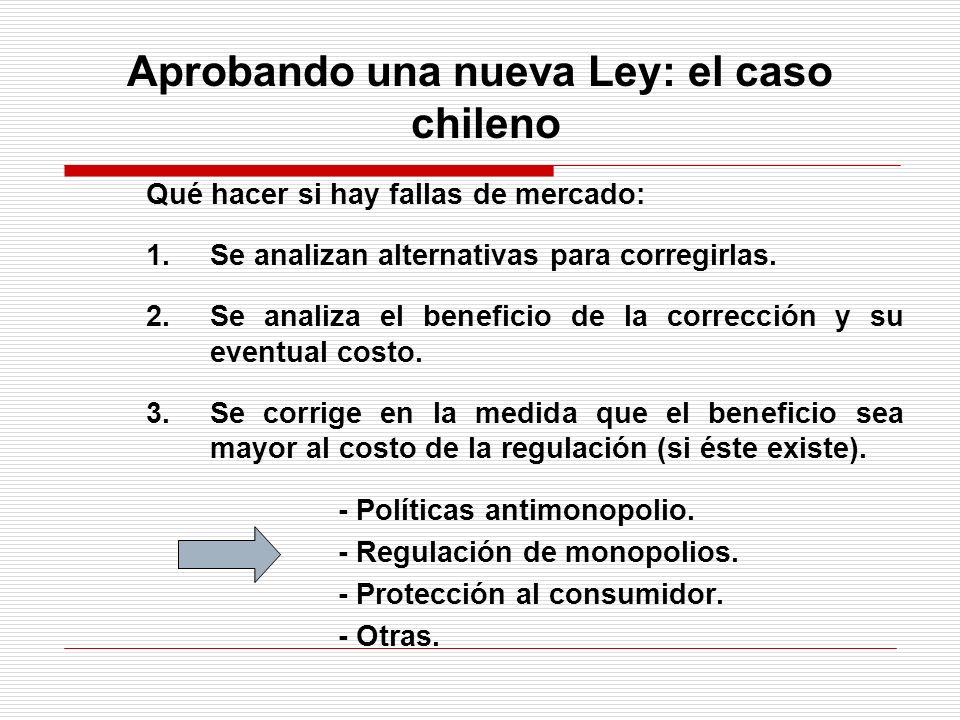 Aprobando una nueva Ley: el caso chileno