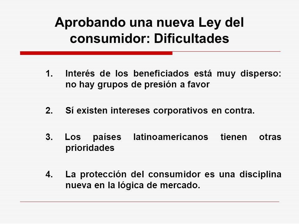 Aprobando una nueva Ley del consumidor: Dificultades