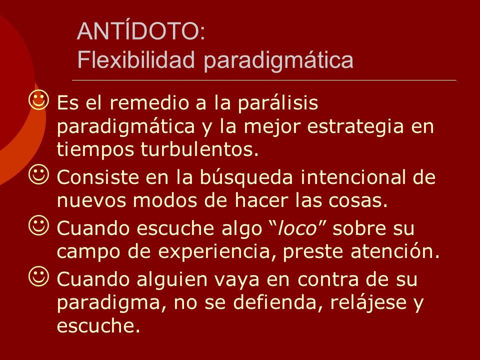 ANTÍDOTO: Flexibilidad paradigmática
