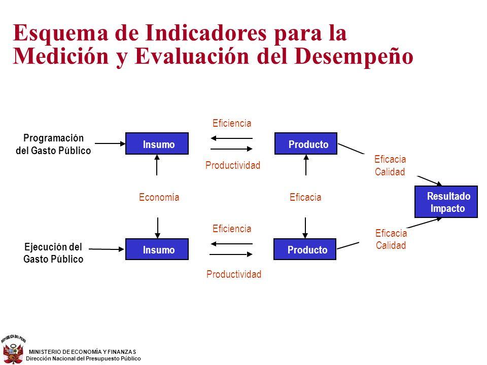 Esquema de Indicadores para la Medición y Evaluación del Desempeño
