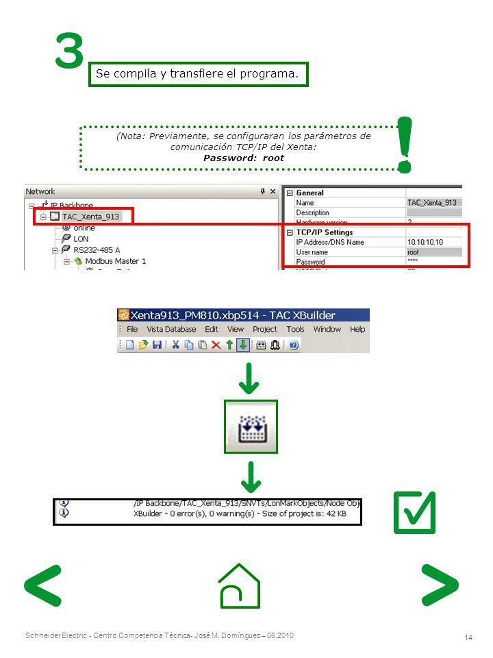 Se compila y transfiere el programa.