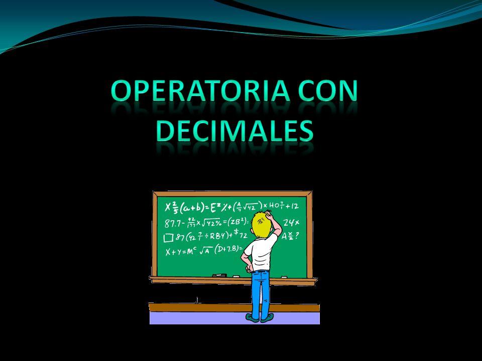 Operatoria con decimales