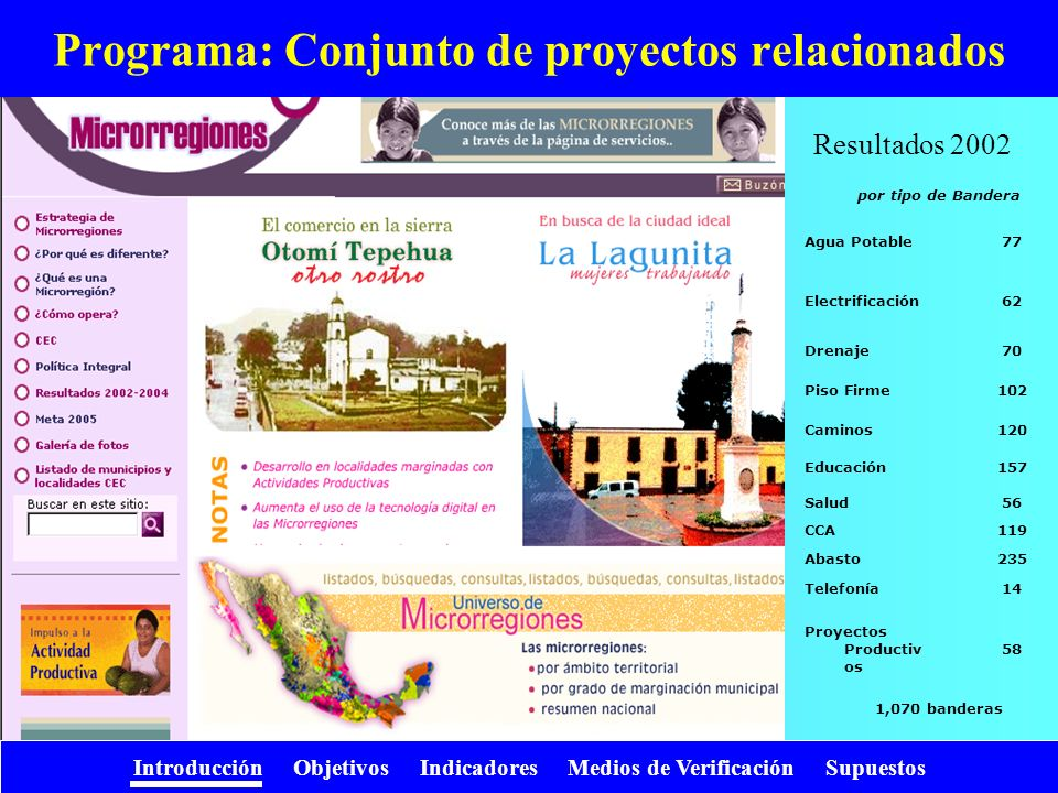 Programa: Conjunto de proyectos relacionados