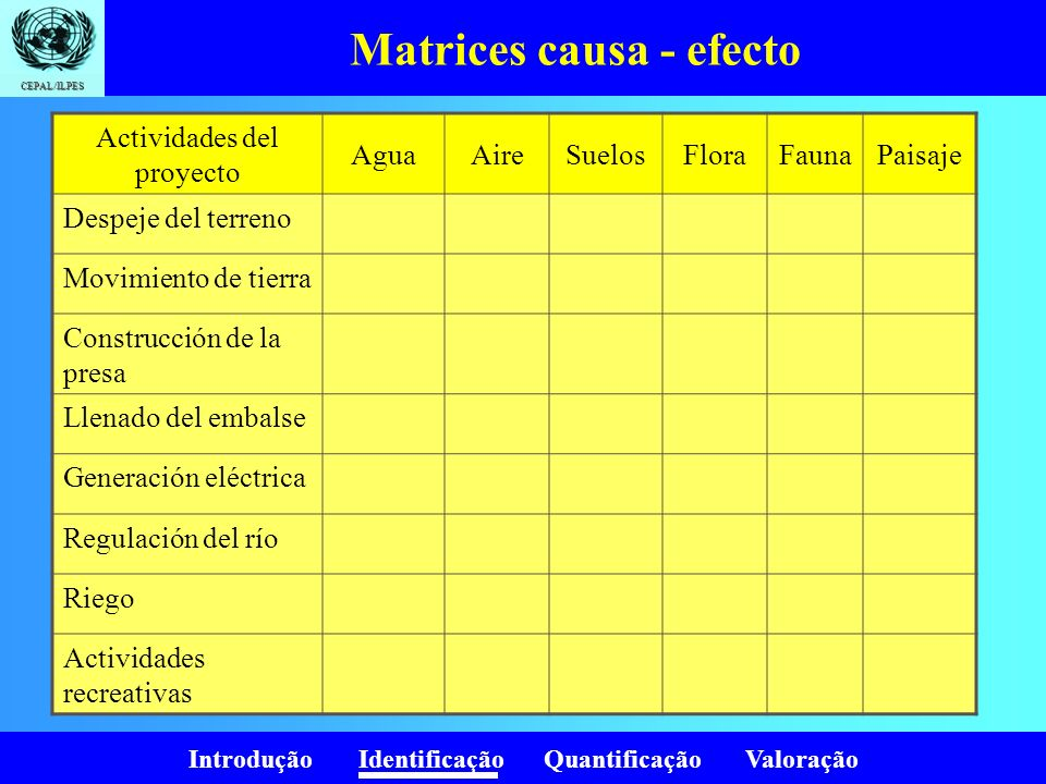 Matrices causa - efecto
