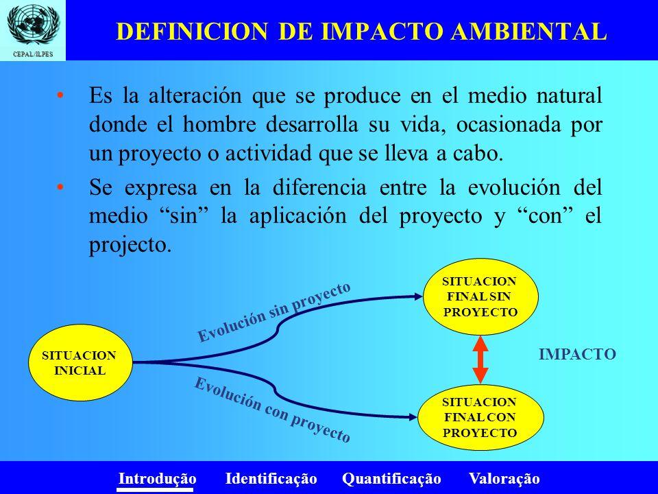 DEFINICION DE IMPACTO AMBIENTAL