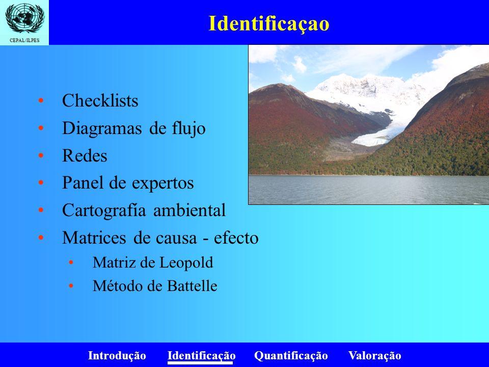 Identificaçao Checklists Diagramas de flujo Redes Panel de expertos