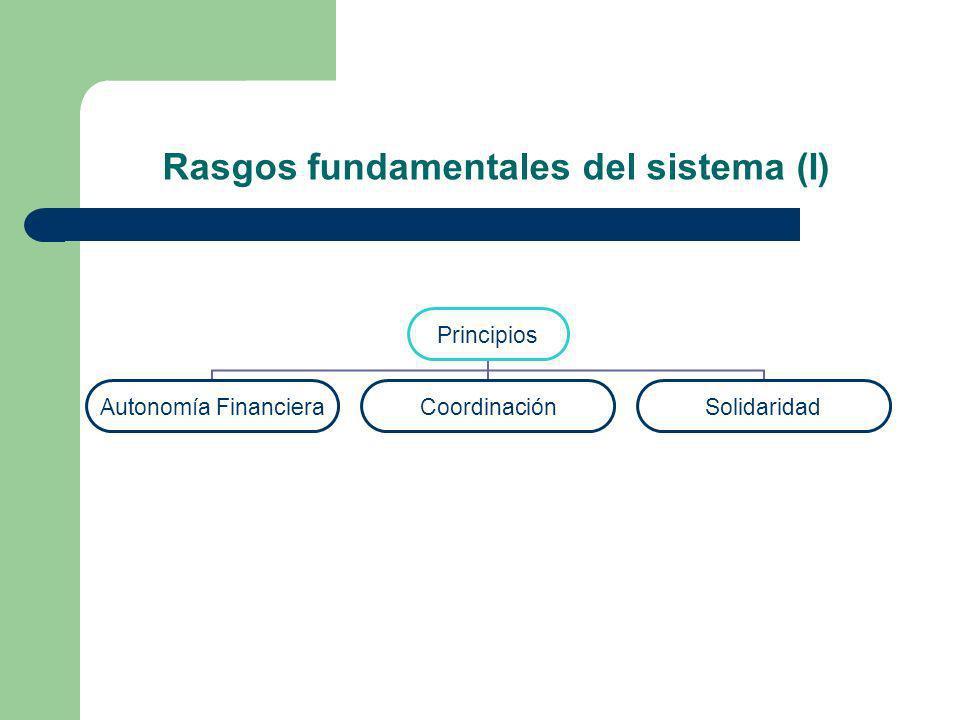 Rasgos fundamentales del sistema (I)