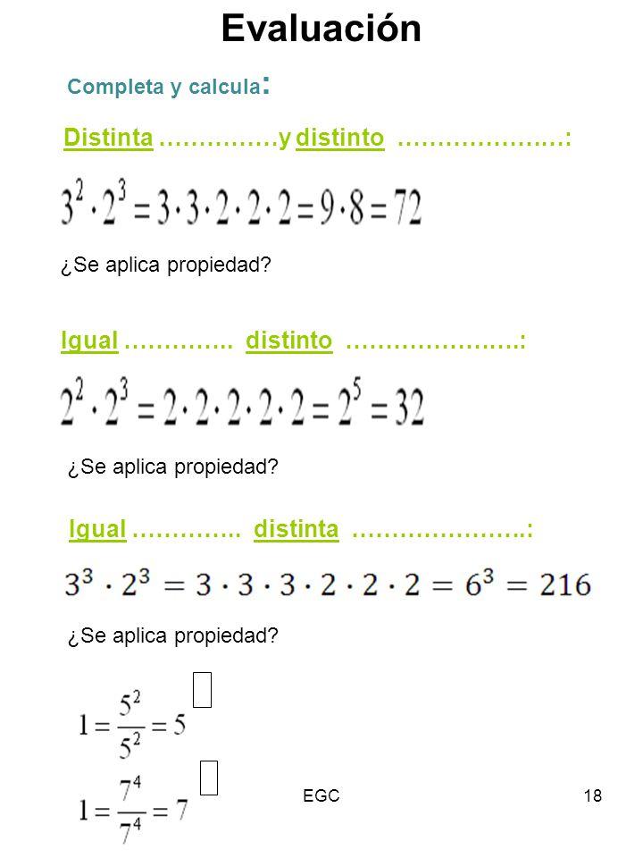 Evaluación Distinta ……………y distinto …………………: