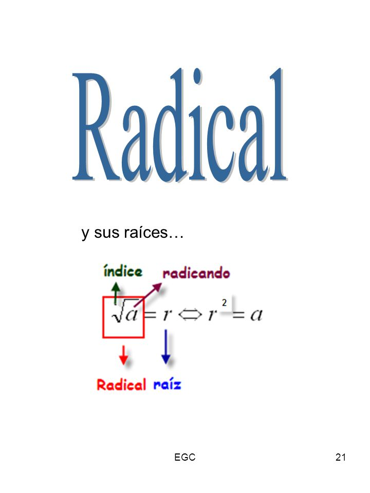 Radical y sus raíces… EGC