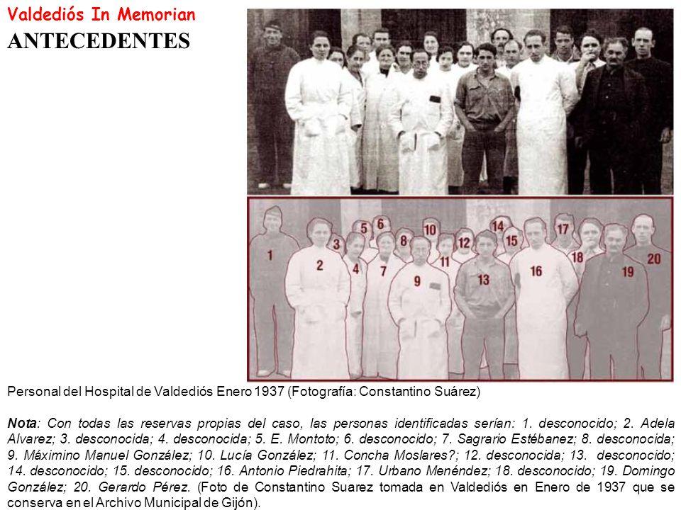 ANTECEDENTES Valdediós In Memorian