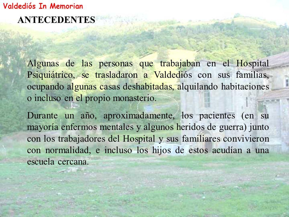 Valdediós In Memorian ANTECEDENTES.