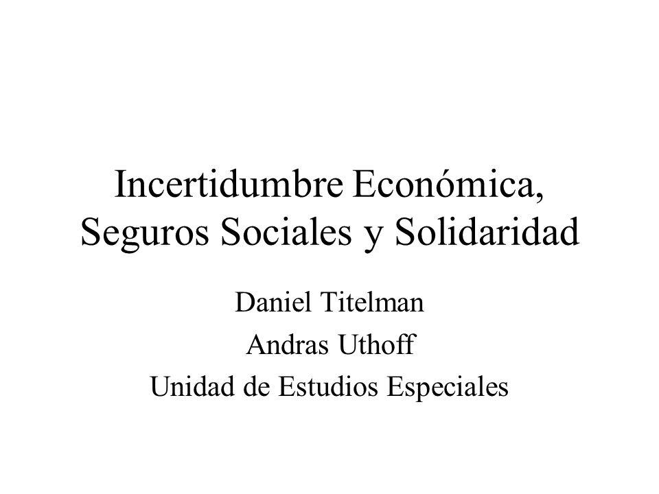 Incertidumbre Económica, Seguros Sociales y Solidaridad