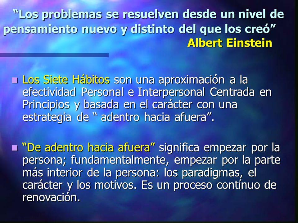 Los problemas se resuelven desde un nivel de pensamiento nuevo y distinto del que los creó Albert Einstein