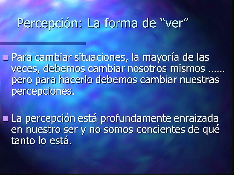 Percepción: La forma de ver