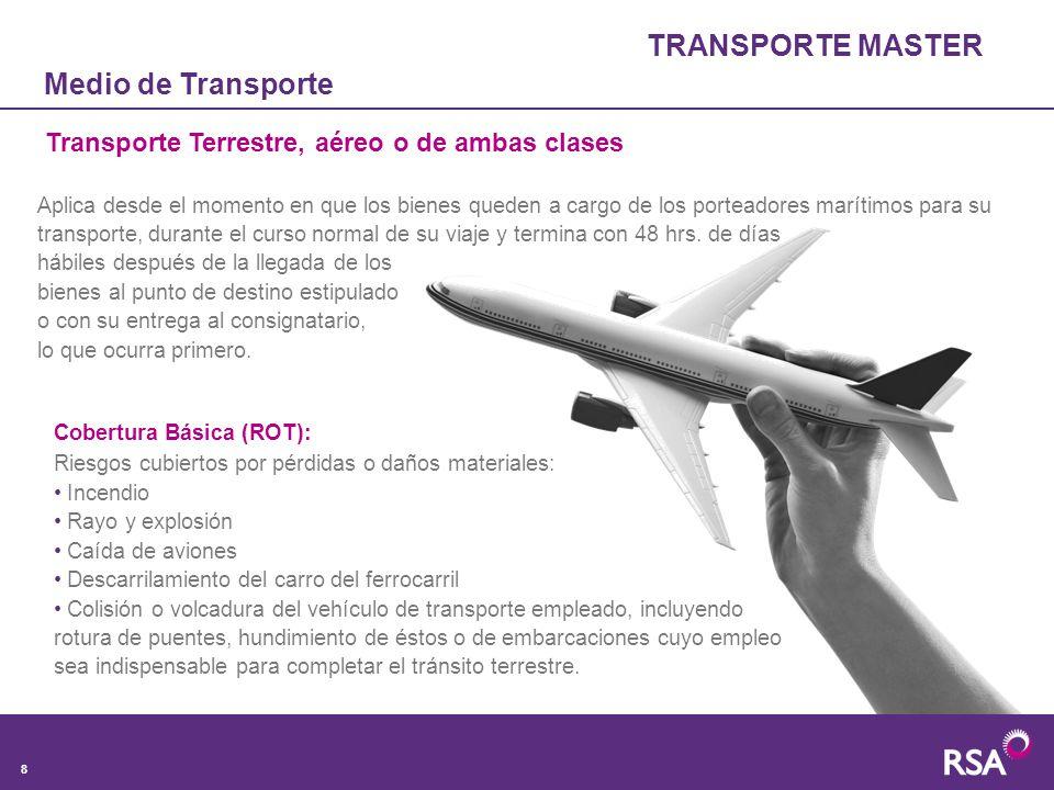 TRANSPORTE MASTER Medio de Transporte
