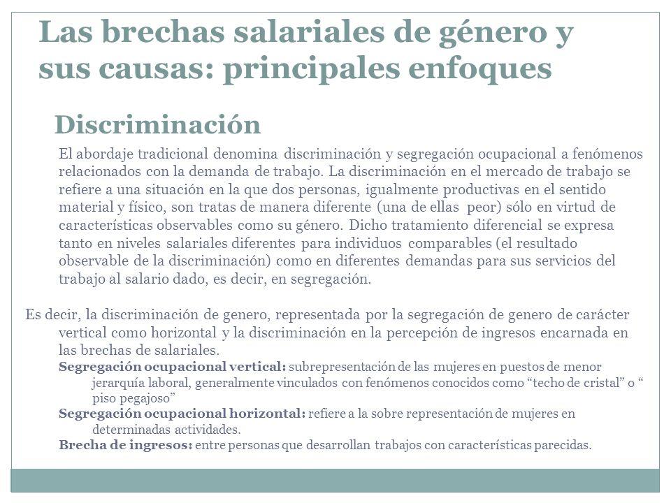 Las brechas salariales de género y sus causas: principales enfoques
