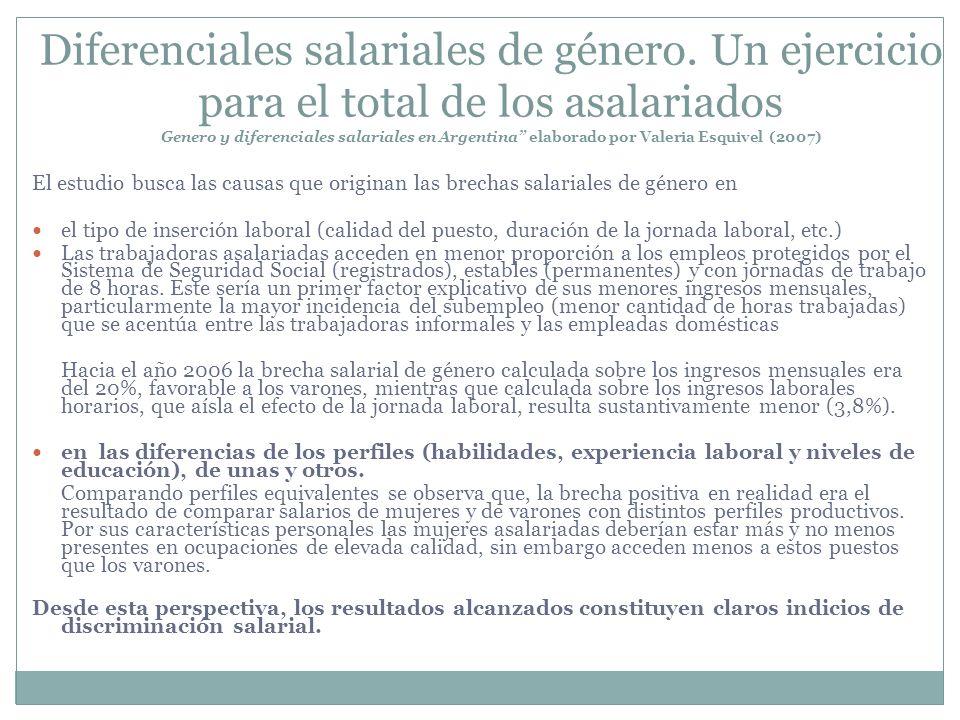 Diferenciales salariales de género