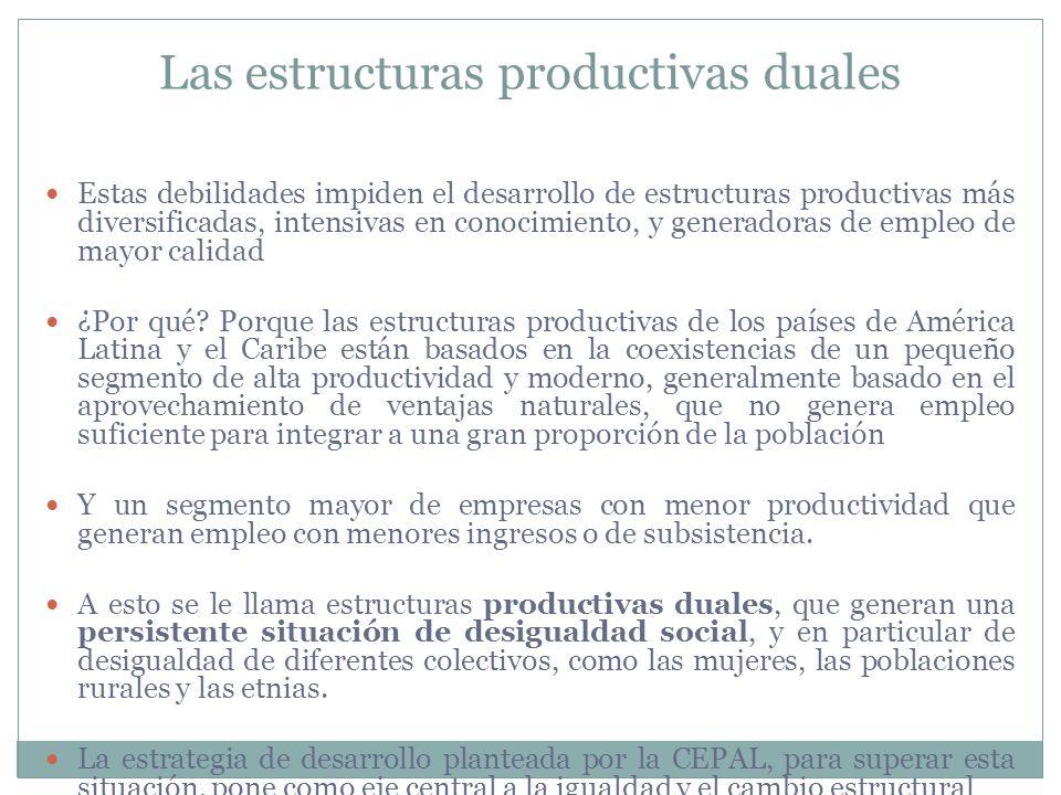 Las estructuras productivas duales
