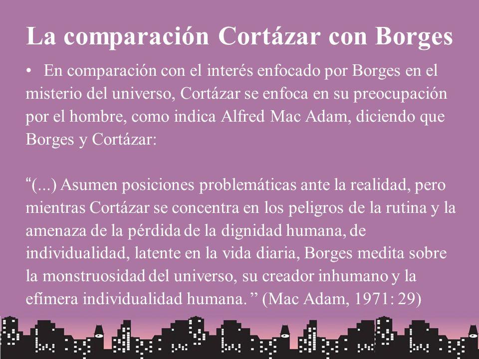 La comparación Cortázar con Borges