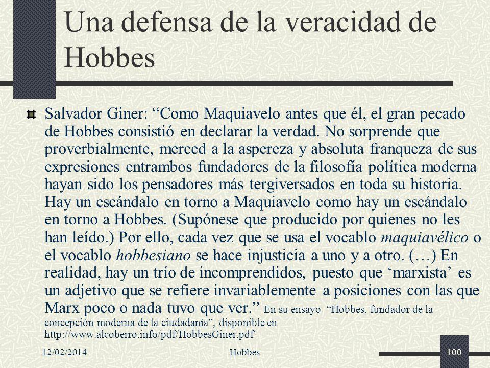 Una defensa de la veracidad de Hobbes
