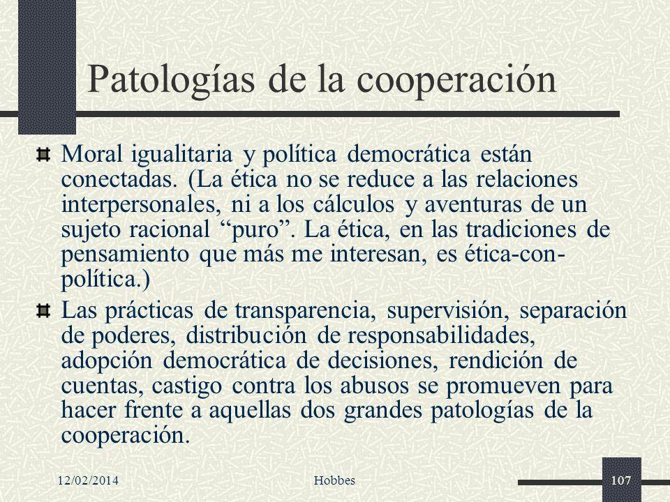 Patologías de la cooperación