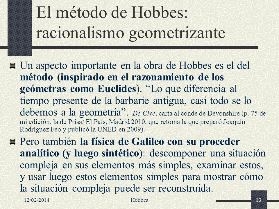 El método de Hobbes: racionalismo geometrizante