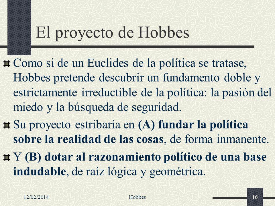 El proyecto de Hobbes