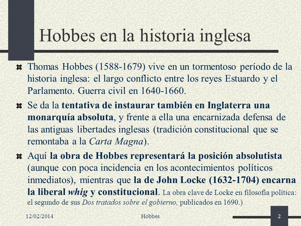 Hobbes en la historia inglesa