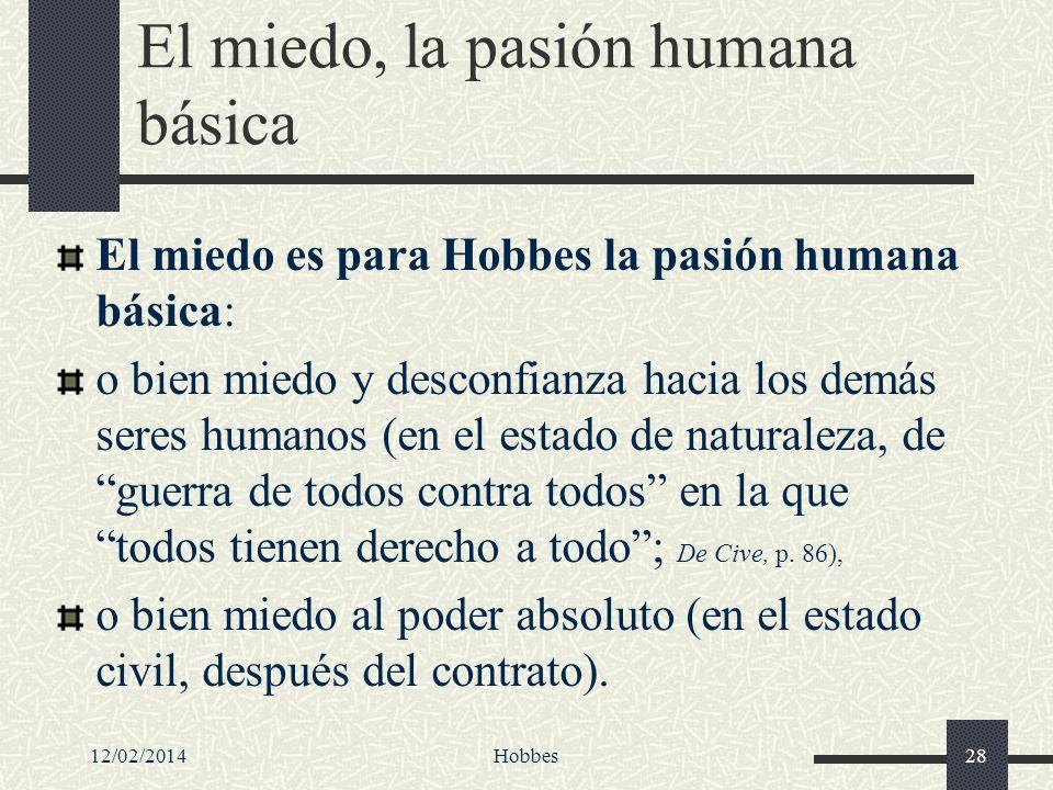 El miedo, la pasión humana básica