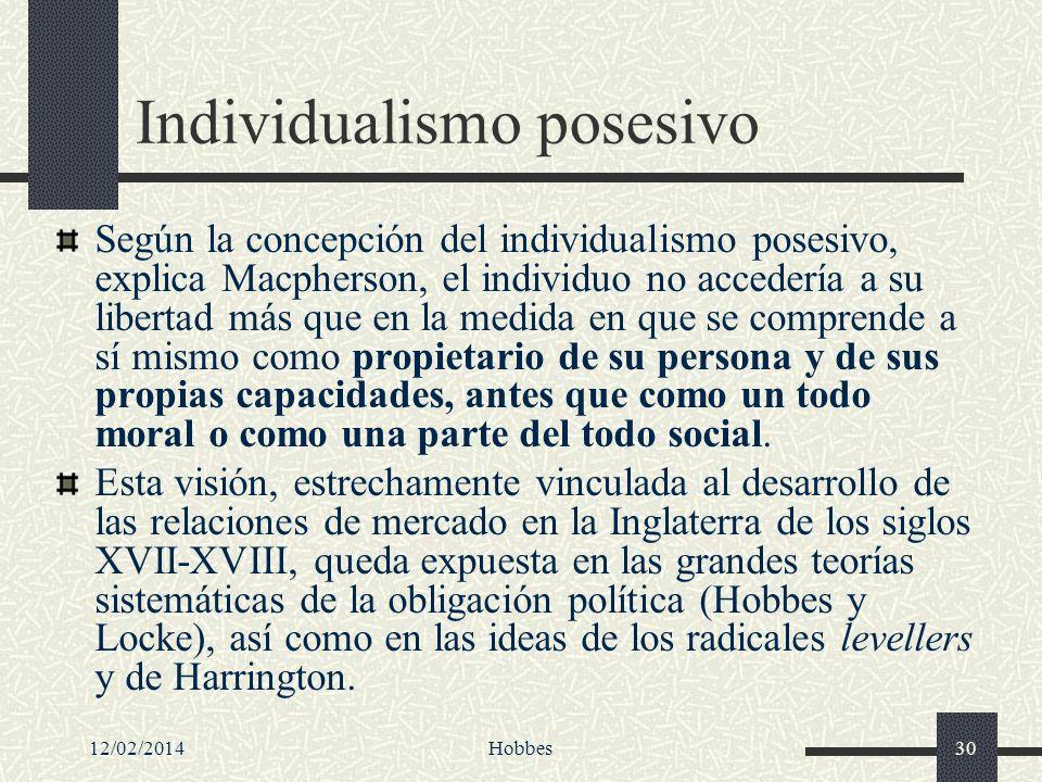 Individualismo posesivo