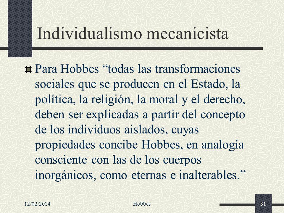 Individualismo mecanicista
