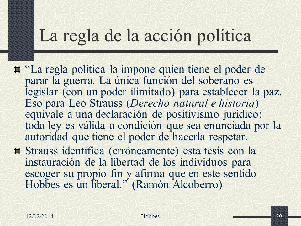 La regla de la acción política